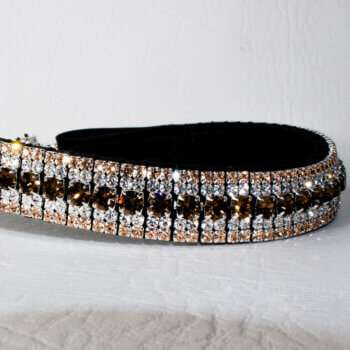 Chocolate and Gold browband from some of the best quality browbands