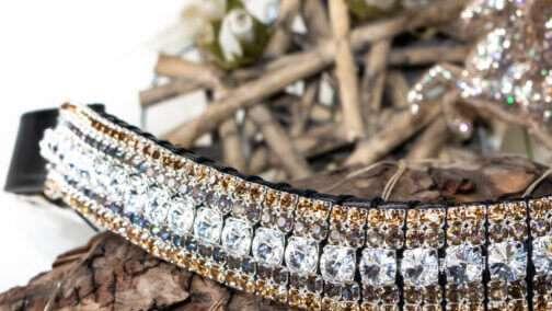 Megabling browband in 5 row Preciosa Rivoli extra sparkly crystals