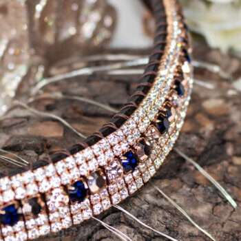 Amazing & unique real rose gold plated crystal browband with luxury Preciosa crystals hand made by Unicorn Browbands