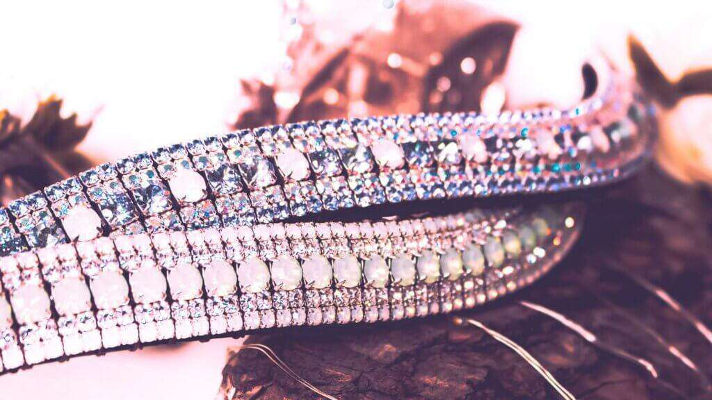 Pastel Unicorn Browband with Preciosa Crystals and English Sedgwith Leather super girly!