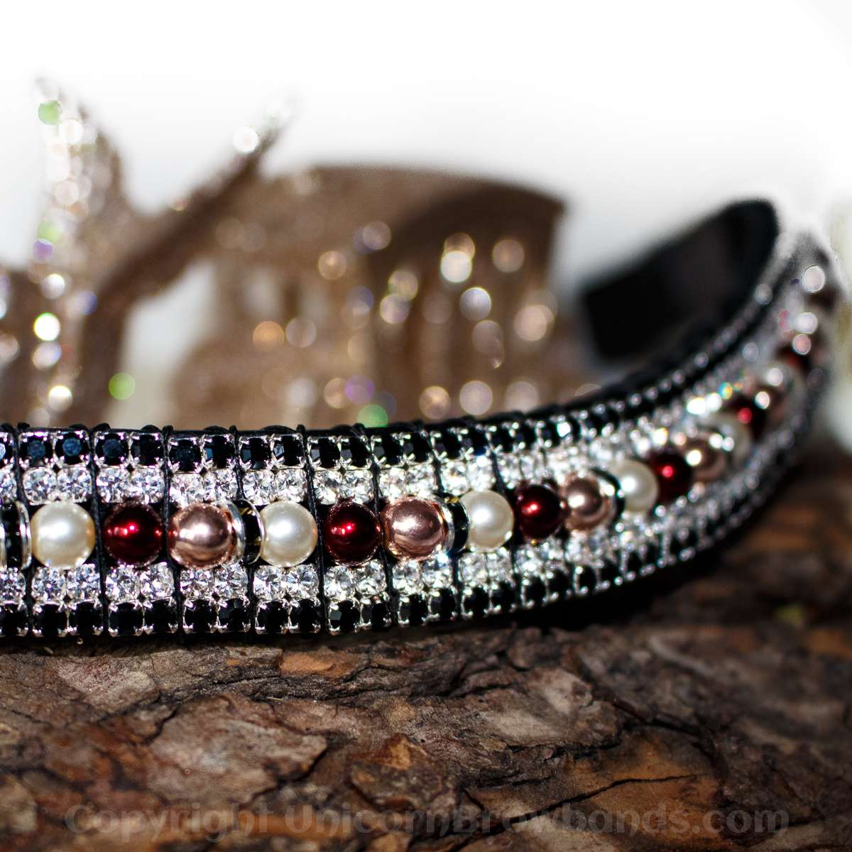 Pearl Mulberry Browband