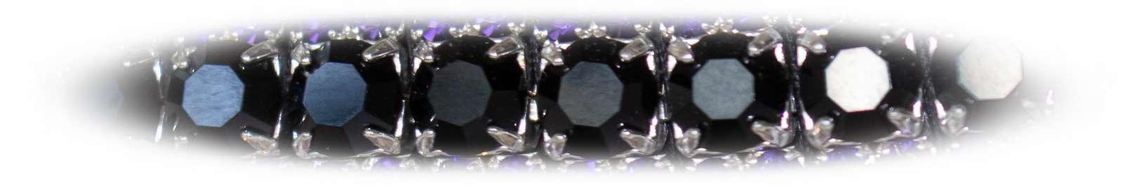 Jet Black crystal bling browband