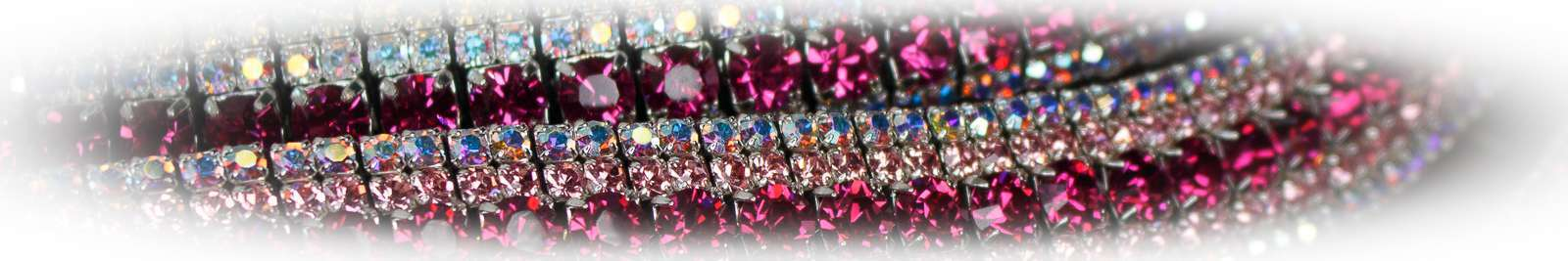 Pink Crystal Bling Browbands by Unicorn Browbands