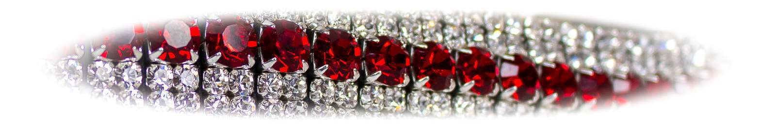 Red crystal bling browbands by Unicorn Browbands