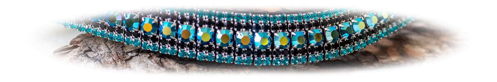 Turquoise bling browbands for horses Unicorn Browbands