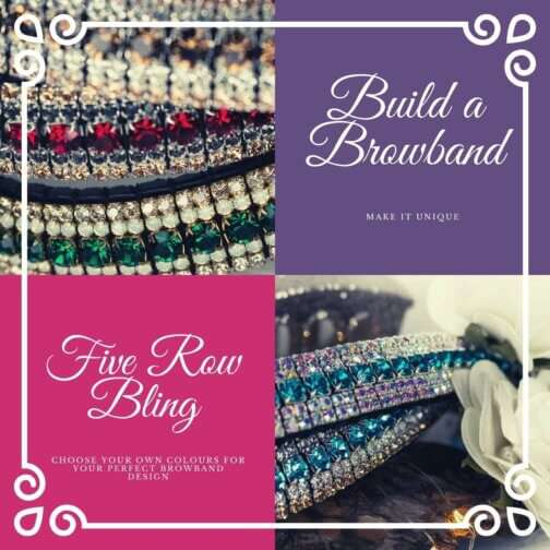 build a browband design your own custom colour crystal browband