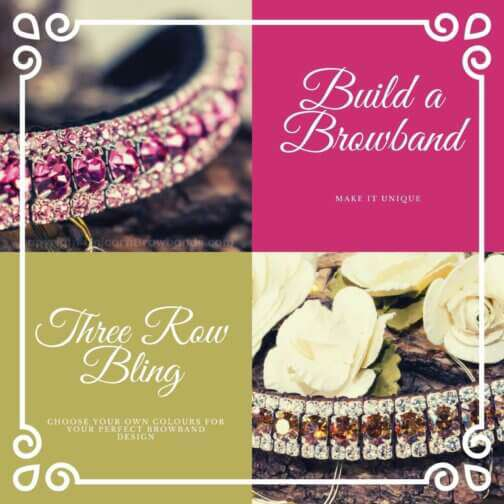 design your own crystal browband at Unicorn Browband