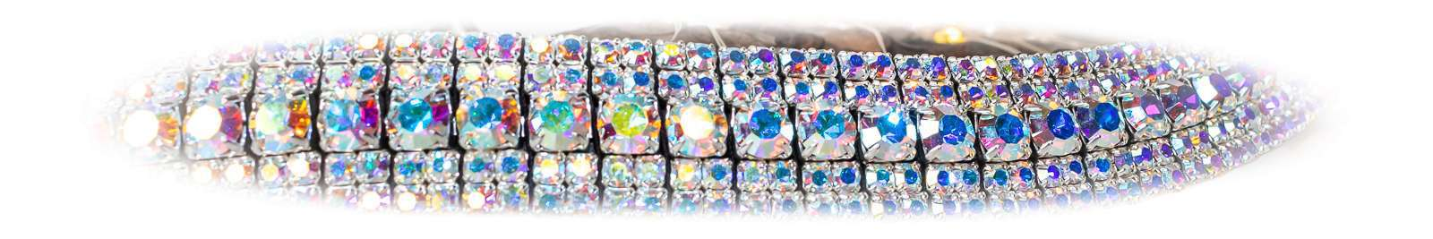 iridescent bling browbands Unicorn Browbands